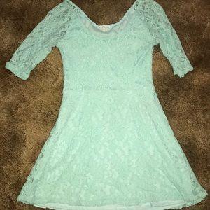 Charlotte Russe mint lace dress